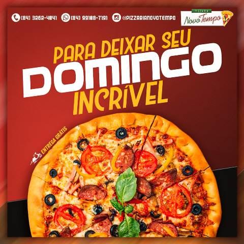 Para deixar seu domingo incrível!!! Deguste a deliciosa Pizza na Pizzaria  Novo Tempo-Delivery: 99108-7191 - Blog do Montoril